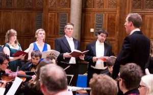 Charlotte Trepress, Amy Shaw, Matthew Minter, David Le Prevost singing Haydn's Mass in Time of War