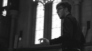 Rory Wainwright Johnston conducting Arvo Part, 2016