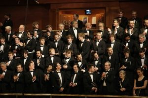 Chorus performing at the Bridgewater Hall in 2009